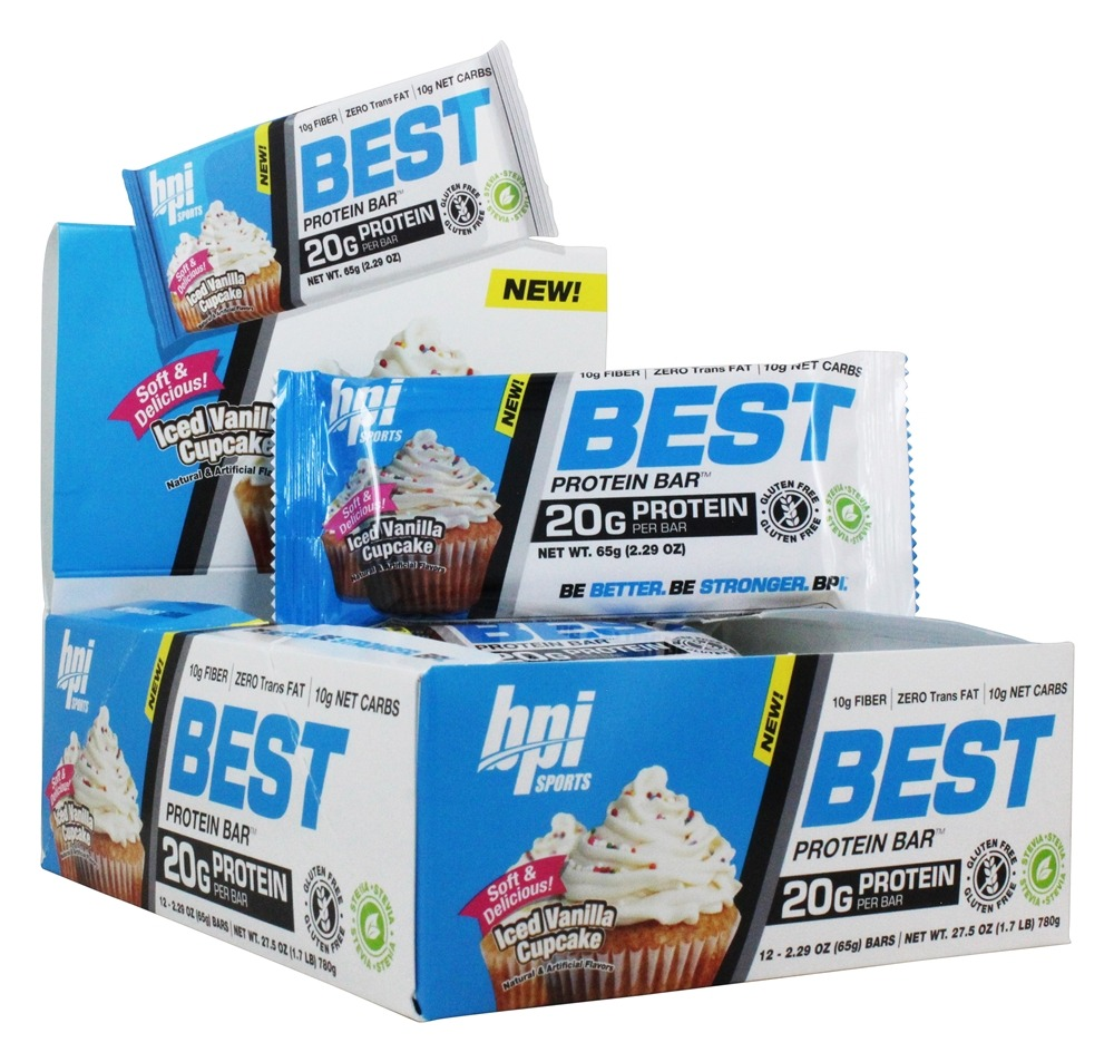 BPI Sports - Best Protein Bar Iced Vanilla Cupcake - 12 Bars