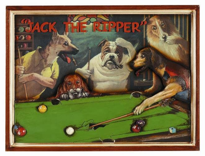 "Pub Sign ""Jack The Ripper"" w Cue Ripping Pool Table by RAM Gameroom Products"