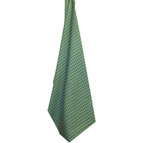 Cream Windowpane Plain Weave Towel-Sage