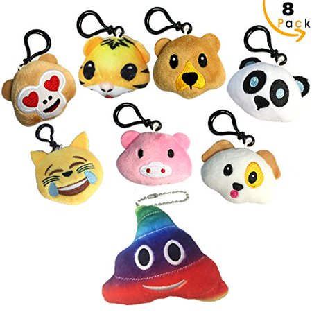 Super Soft Stuffed Animals For Babies, Emoji Keychain Mini Pillow Stuffed Animals Plush Toys Assortment For Safari Party Supplies Favors Birthday Party Home Decoration Carnival Prizes Classroom Rewards And More Walmart Canada