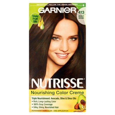 Garnier Nutrisse Nourrissant Couleur Crème 413 Bronze Brown permanent Couleur de cheveux