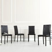 Homelegance Tempe PU Metal Chairs Dark Brown Set of 4 by Home Creek