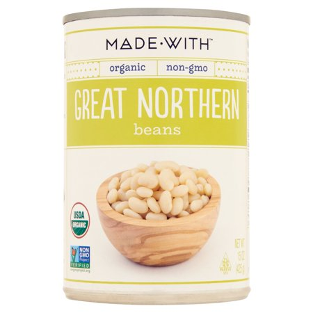 Made With Beans Great Northern Org,15 Oz (Pack Of
