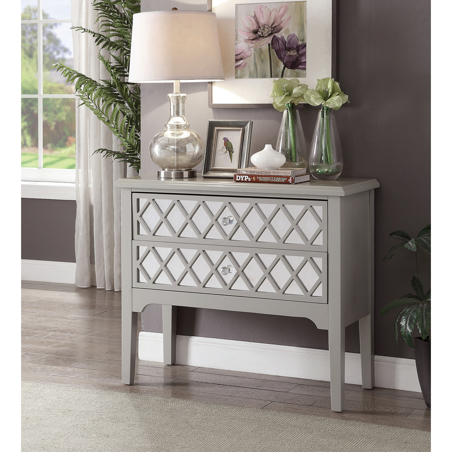Furniture Of America Jennia Contemporary Entryway Table Multiple Colors
