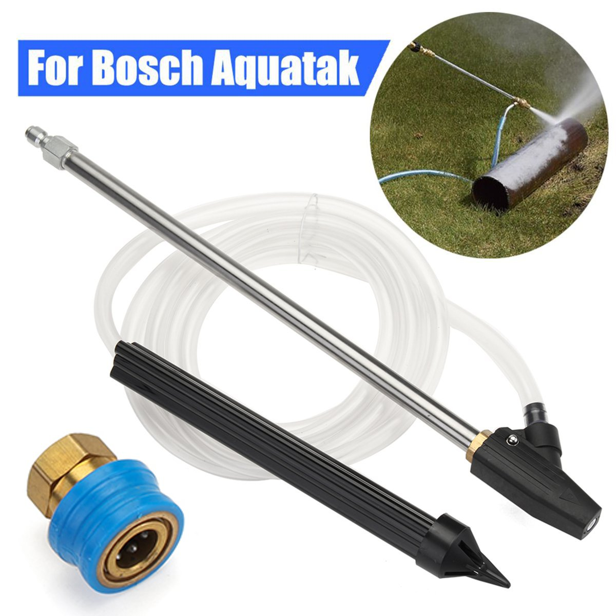 High Pressure Washer Sand Wet Sand blasting Kit & Pressure Washer Steam Cleaner Quick Release Compact 1/4F Coupling