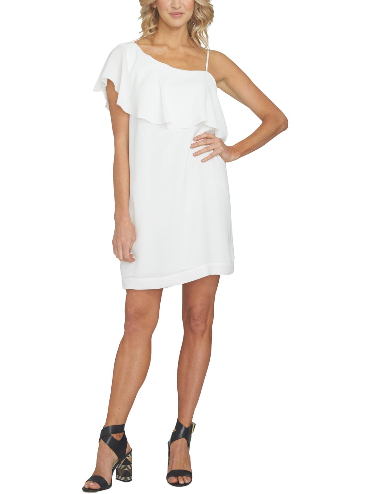 1.State Womens Crepe One Shoulder Cocktail Dress