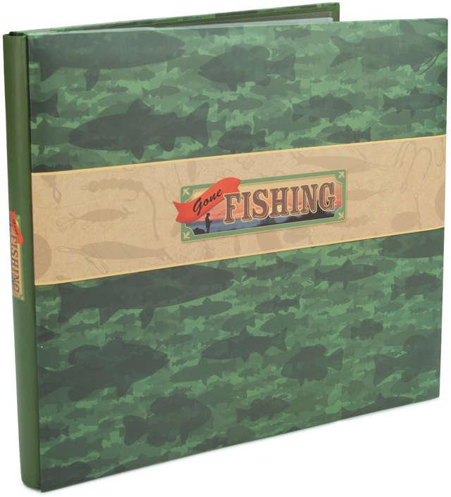 "Karen Foster Post Bound Album 12""X12""-Gone Fishing - image 1 of 1"