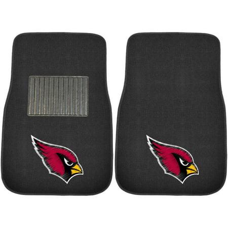 FanMats NFL Arizona Cardinals 2-Piece Embroidered Car Mats