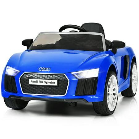 Costway 12V Audi R8 Spyder Licensed Electric Kids Ride On Car R/C Suspension MP3 Lights