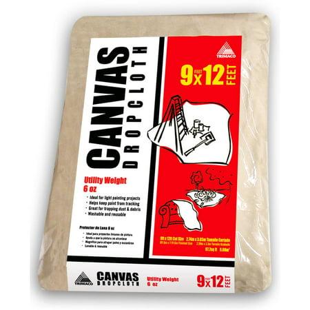 Trimaco 56701 9' x 12' 6 Oz SuperTuff Canvas Drop Cloth (Canvas Drop Cloth 15)