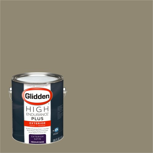 Glidden High Endurance Plus Exterior Paint and Primer, Canyon Floor Tan, #40YY 28/130