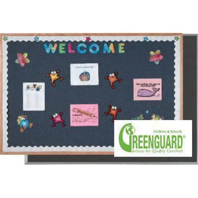 AARCO Products DF1218014 Aluminum Frame Fabric Bulletin Board