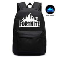 Fortnite School Backpack Childrens Fort Nite Travel Bag Orange Luminous Illuminating Fortnite Backpack
