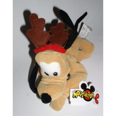 (Retired Disney Mickey Mouse Clubhouse Christmas Holiday Reindeer Pluto 8†Bean Bag Doll)