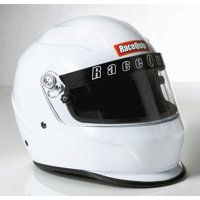RaceQuip 273116 Gloss White X-Large PRO15 Full Face Helmet (Snell SA-2015 Rated)