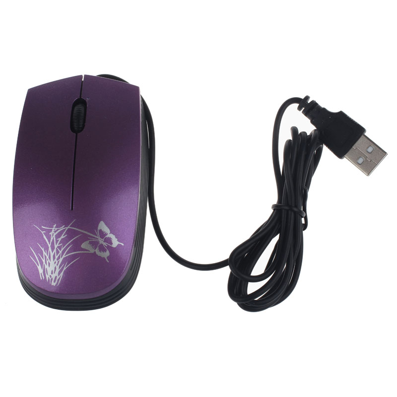 Fashion USB 2.0 Wired Mini Optical LED Mouse For PC and Laptop Computers