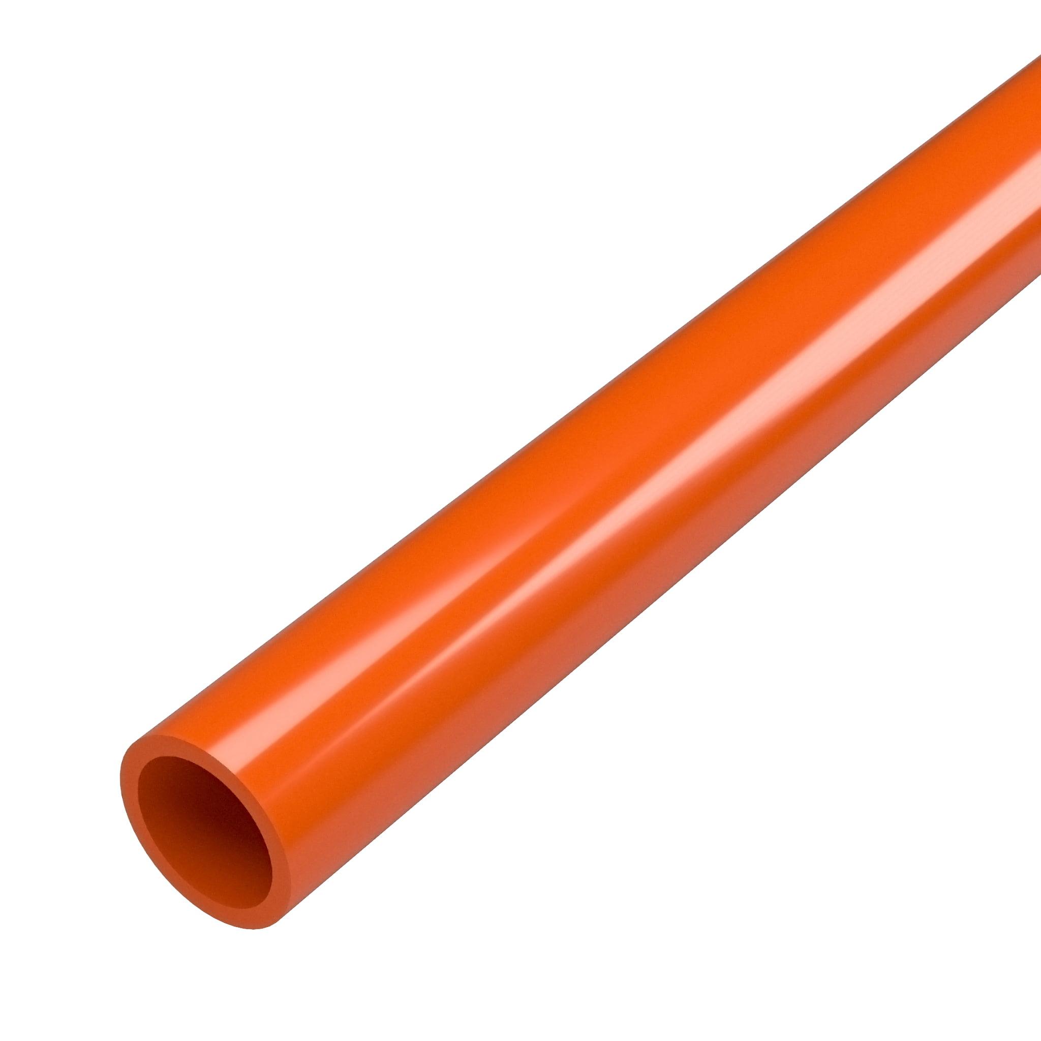 "FORMUFIT P034FGP-OR-5 Schedule 40 PVC Pipe, Furniture Grade, 5-Feet, 3/4"" Size, Orange"