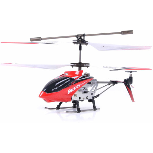 Syma S107G 3 Channel RC Helicopter with Gyro, Red