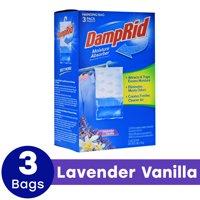 DampRid Hanging Moisture Absorber, Lavender Vanilla, 14 Oz, 3 Pack