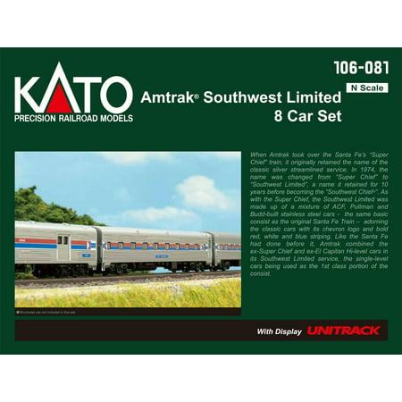 Kato 106081 N Scale Amtrak Southwest Limited 8-Car Passenger Set (N Scale Amtrak)