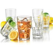 Libbey Clear Boston Drinkware Set, 16 Piece