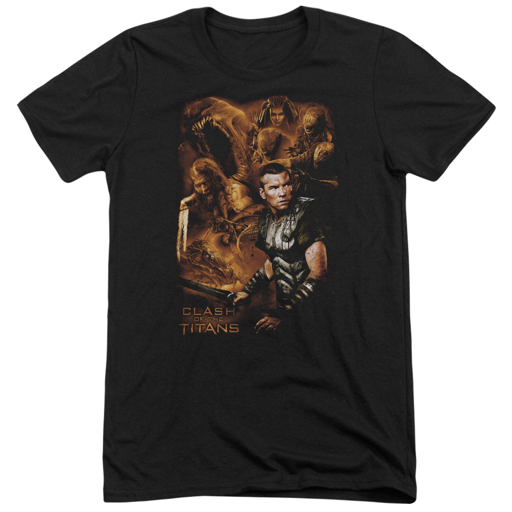 Clash Of The Titans Villains Mens Tri-Blend Short Sleeve Shirt