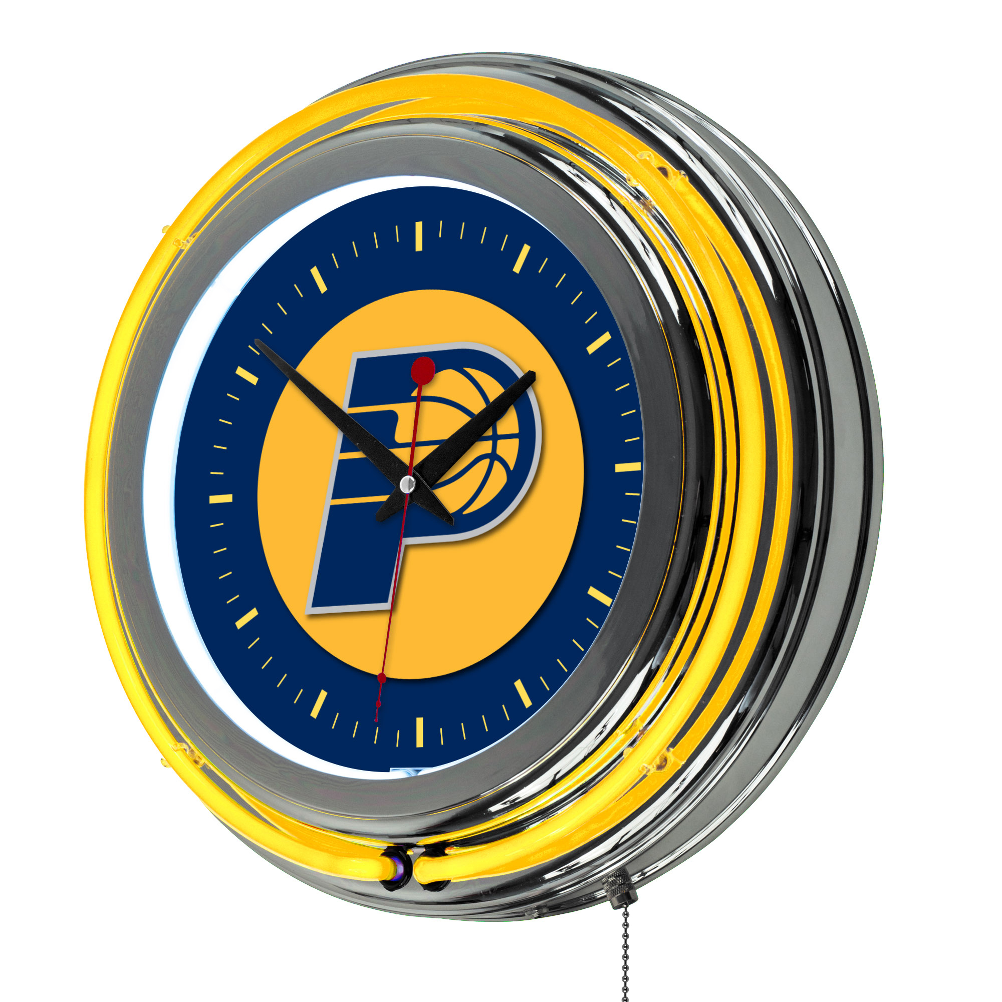 """Indiana Pacers NBA 14"""" Neon Wall Clock"""