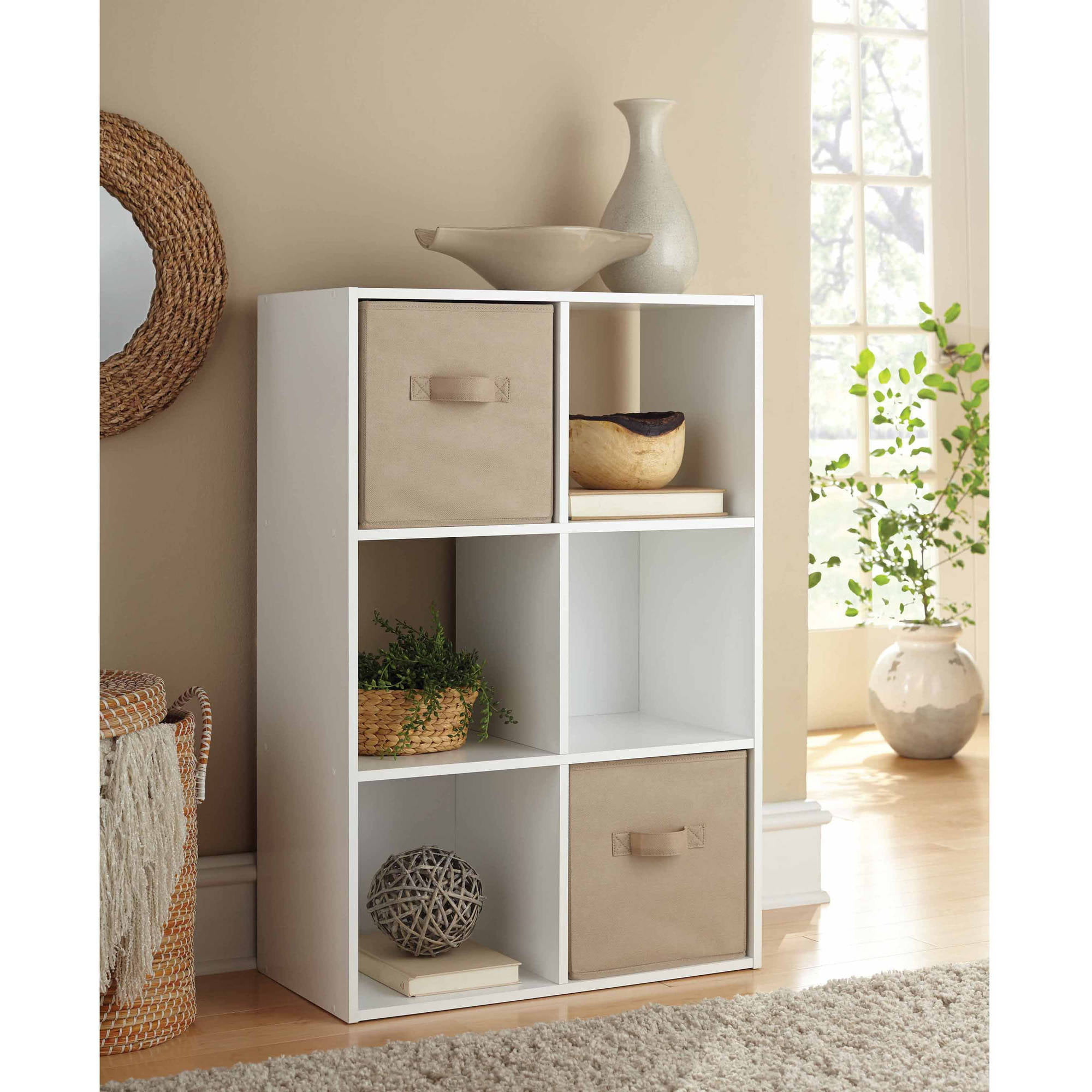 Beau Mainstays 6 Cube Storage Organizer, Multiple Colors   Walmart.com