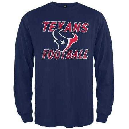 Houston Texans - Flanker Logo Premium Long Sleeve T-Shirt - University Of Houston Logo