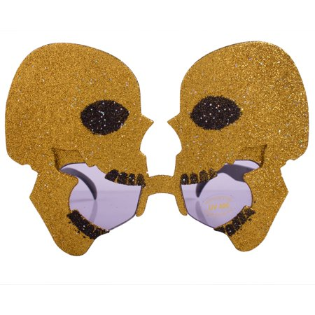Veil Entertainment Giant Twin Skulls Costume Sunglasses - Twin Costumes