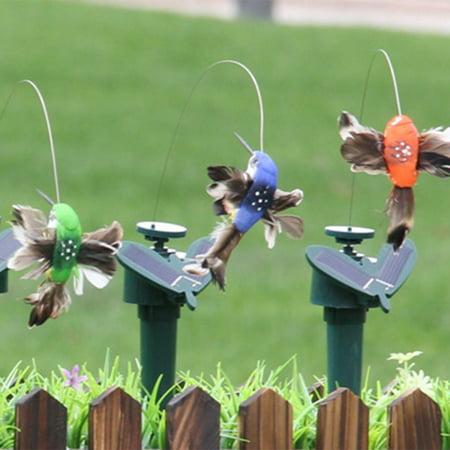 Powder Bird (Funny Solar Toys Flying Fluttering Hummingbird Powered Birds Butterflies for Garden Decoration )
