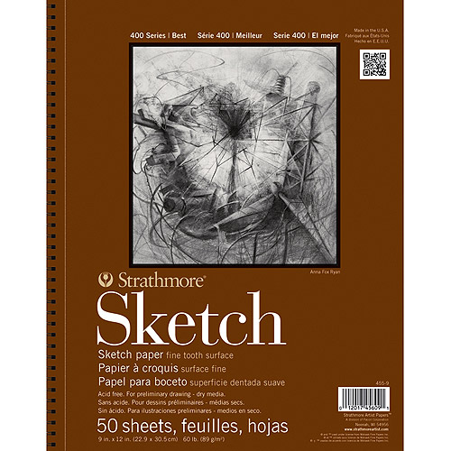 "Strathmore Sketch Paper Pad, 11"" x 14"", 60 lb, 100 sheets"