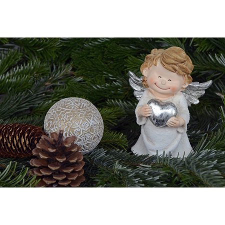 LAMINATED POSTER Christmas Angel Decoration Angel Wings Poster Print 24 x 36