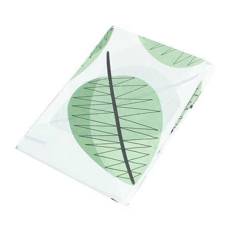 Emulation Silk Rectangle Shape Green Leaf Printed Tablecloth Table Cover (Best Place For Silk Cloth)