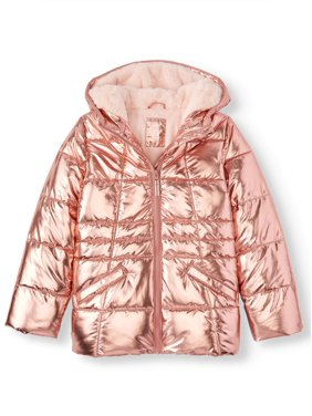 Wonder Nation Metallic Quilted Bubble Jacket (Little Girls, Big Girls & Plus)