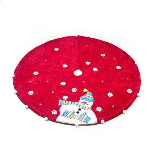 Seasons Designs 48 Inch Red Knit Snowman Tree Skirt