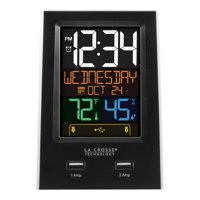 La Crosse Technology C86224 Desktop Dual USB Charging Station with Dual Alarms and Nap Timer