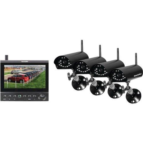 "Securityman 4-channel Digital Wireless Security System - 4 X Camera, Monitor, Digital Video Recorder - 7"" Lcd - Mpeg-4 Formats (digilcddvr4)"