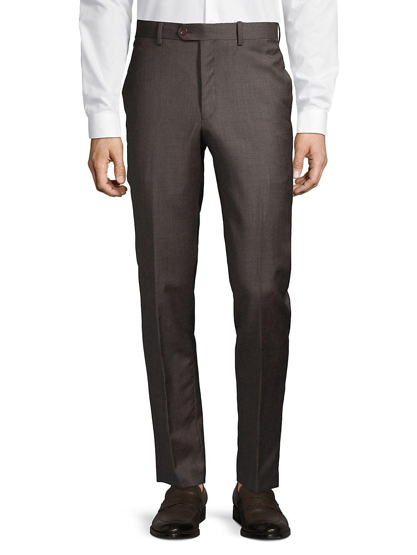 Mason Collection Flat-Front Suit Separate Pants