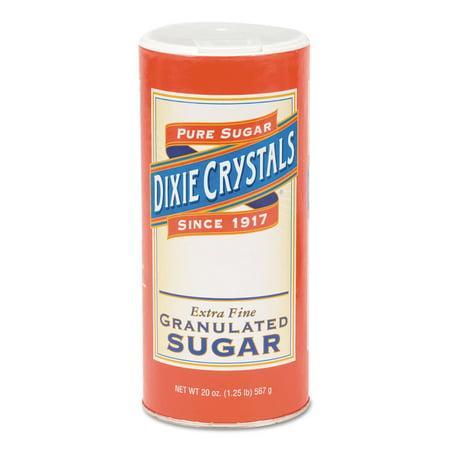 Extra Fine Granulated Sugar - Diamond Crystal Granulated Sugar, 20 oz Canister, 24/Carton