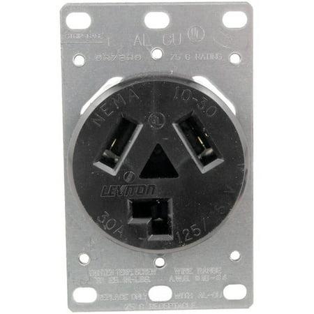 No Logo 5207 Single-Flush Dryer Receptacle (3 wire) ()