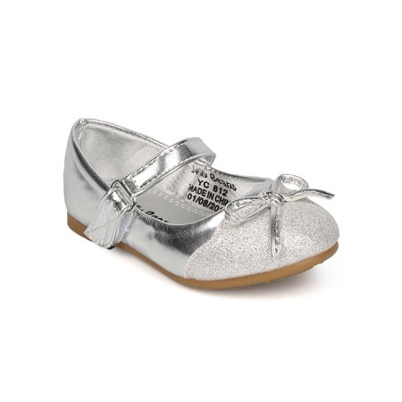 a551bfb05742 Jelly Beans - New Girl Jelly Beans Cirona Metallic PU Capped Toe Bow Tie  Mary Jane Flat - Walmart.com