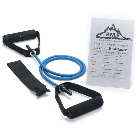 Black Mountain Products Single Resistance Band  Door Anchor And Starter Guide Included