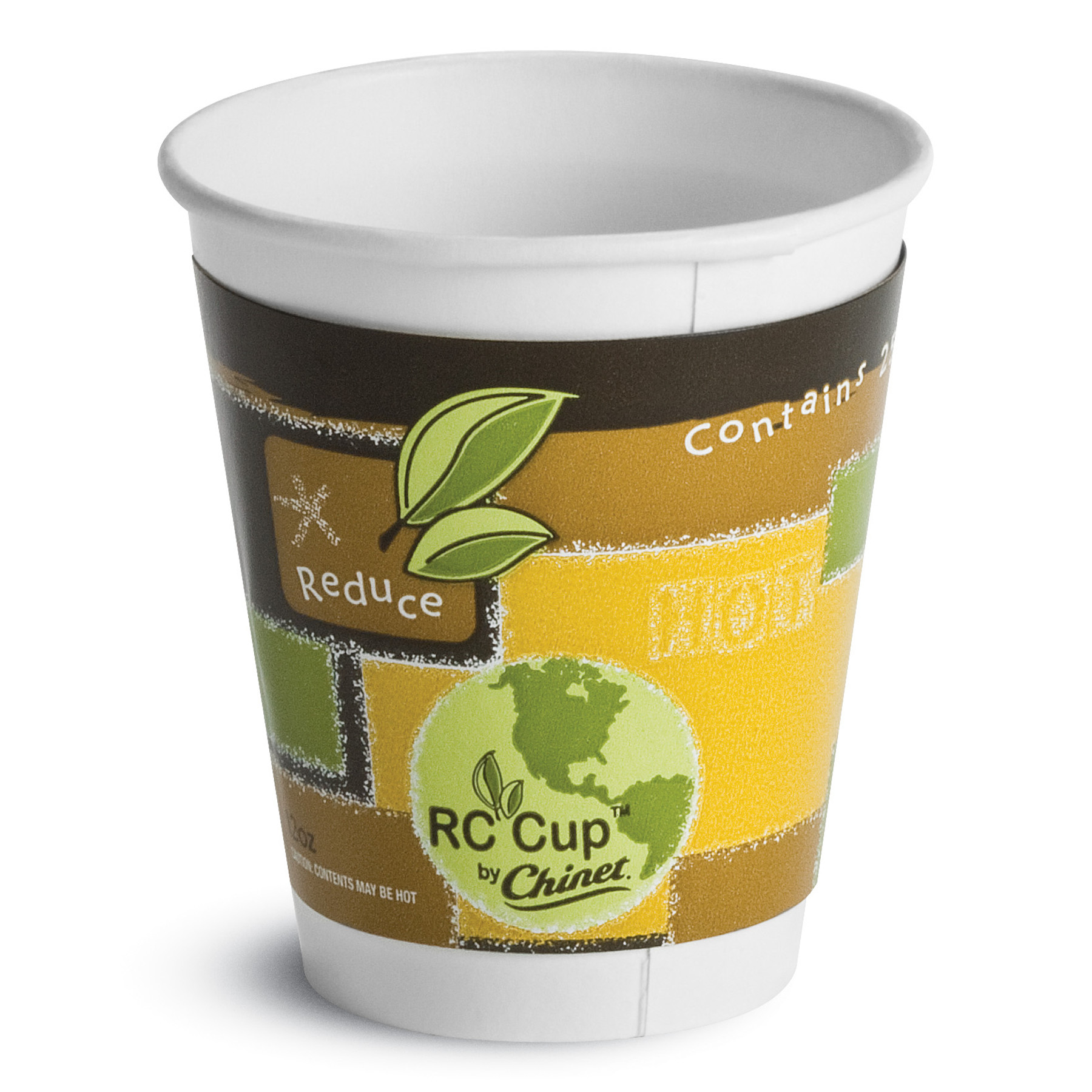 Chinet Insulated Hot Cups, 12 oz, White, 645/Carton