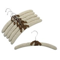 Linen Padded Hangers with Chrome Hook