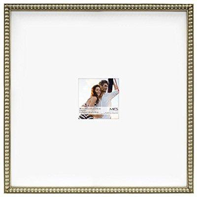 - mcs 20x20 inch signature bead frame with 5x5 inch mat opening, champagne (47609)