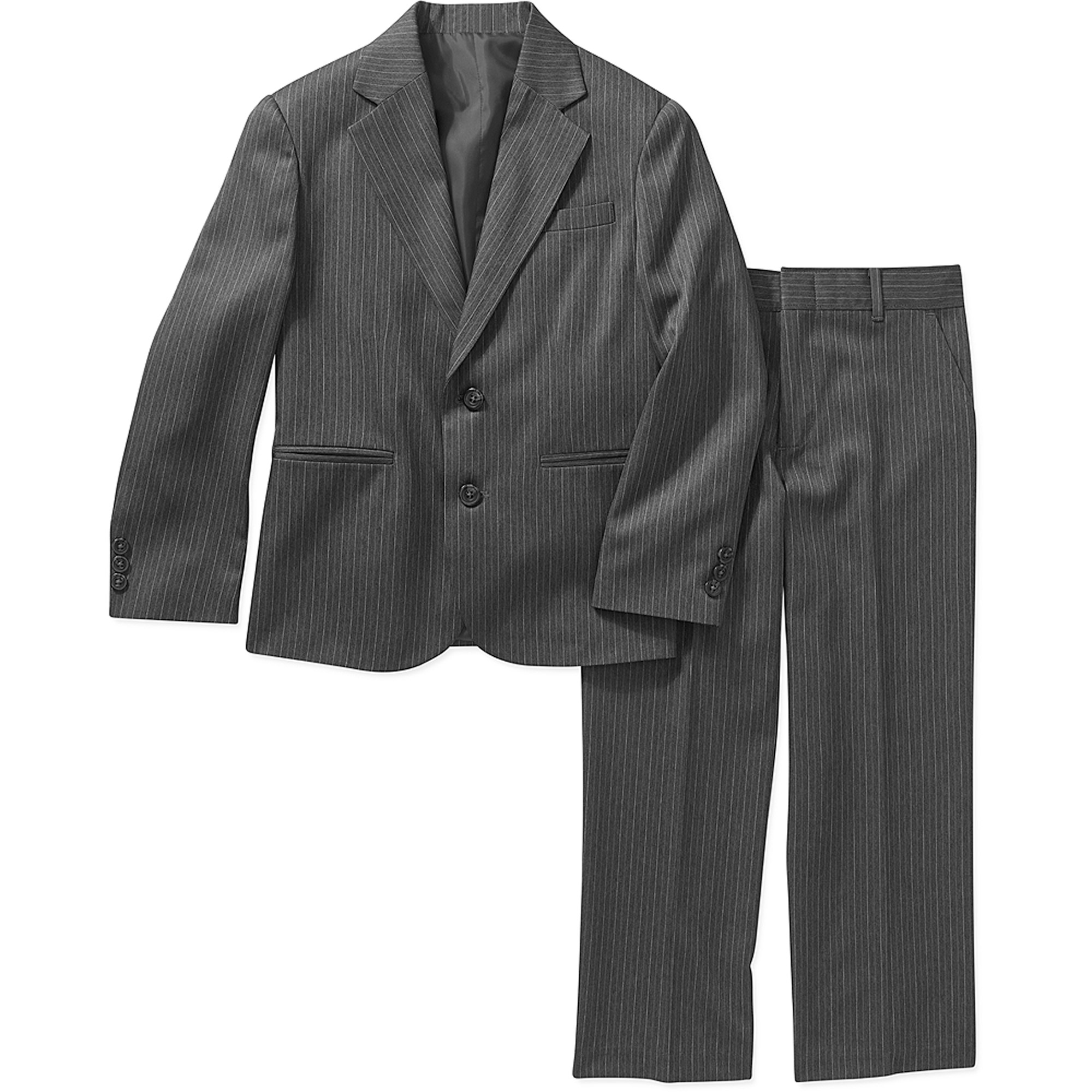 George Boys' Grey Stripe Suit