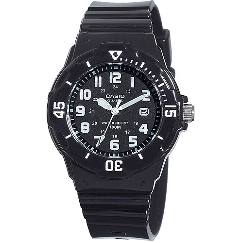 Casio Women's Diver Watch, Black Strap