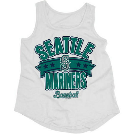 Seattle Mariners Baseball (MLB Seattle Mariners Girls Short Sleeve Team Color Graphic)