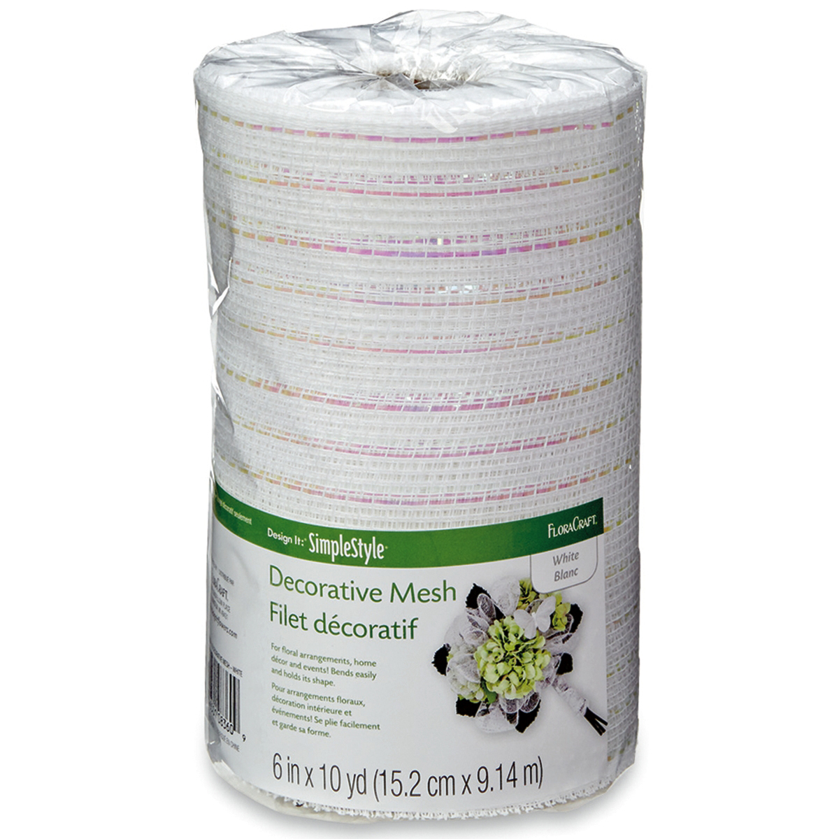 "Mesh Metallic Ribbon, 6""W"